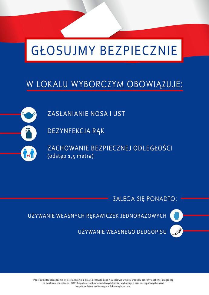 Plakat Głosujmy Bezpiecznie